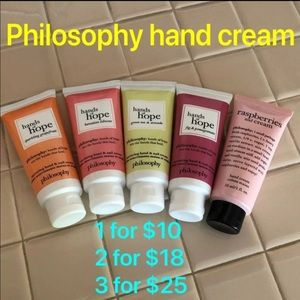 CHOOSE ONE or more Philosophy hand cream
